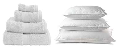 towels pillows